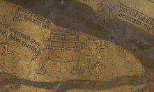 Fig. 3 Hereford Elephant https://www.themappamundi.co.uk/mappa-mundi/