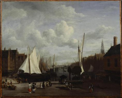 Quay at Amsterdam Jacob van Ruisdael (Dutch, 1628/1629–1682) Date: ca. 1670