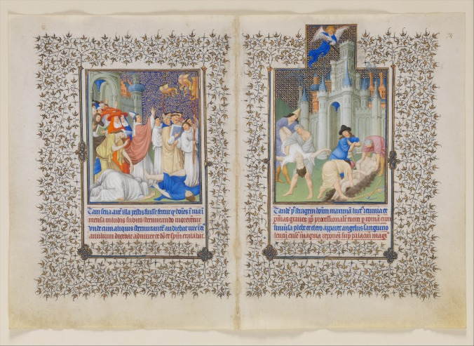 The Belles Heures of Jean de France, Duc de Berry. ff.73v-74r